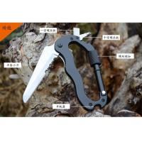 Multifunction 5 in 1 Carabiner Mountaineering Buckle - Black B233