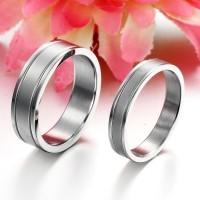 cincin couple silver polos kilap,mewah elegan,cincin tunangan,titanium
