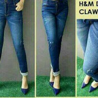 Jeans Ripped / Jeans Sobek / H&M Dark Claw Big Size / Size 35-38
