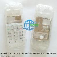 CASING FULLSET NOKIA 1202 TRANSPARAN IMEI + TULANGAN
