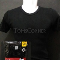 Jual Kaos Dalam / T-Shirt / Kaos Oblong Pria Rider Hitam V Neck r222b Murah