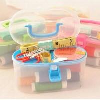 sewing kit box paket perlengkapan menjahit lengkap dengan kotak jahit