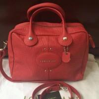 longchamp quadri red bag ori