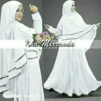 Najibah syar'i white baju muslim wanita warna putih gamis syari
