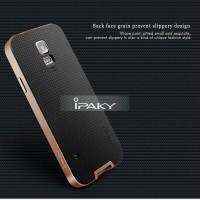 Samsung S5 iPaky Case Original Carbon Cover Bumper Hybrid Armor