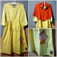 gamis/baju Muslim anak Oka oke reg jilbab size 5