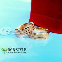 Cincin Titanium Gold Pasiran - Perhiasan Setara Emas Ring Couple