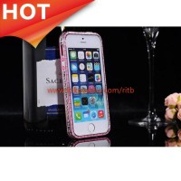 Case SULADA Bumber Frame Colorful Border iPhone 5/5s/SE - Pink