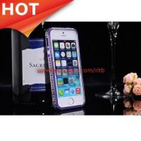 Case SULADA Bumber Frame Colorful Border iPhone 5/5s/SE - Purple