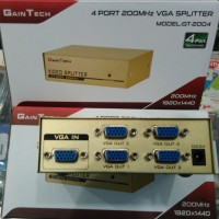 VGA SPLITTER 4 PORT (1 PC/Notebook - 4 MONITOR)