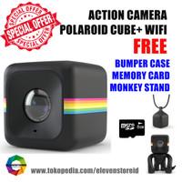 Jual Polaroid Cube+ Wifi Black Free Bumper Case SD Card Monkey Stand Murah