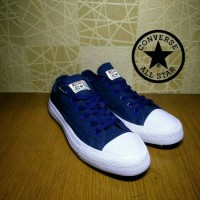 Sepatu Converse Chuck Tailor CT/OP Biru Tua Navy Cewek Cowok Keren