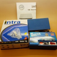 Booster Antenna TV INTRA HM-909TG , penguat sinyal TV digital + analog