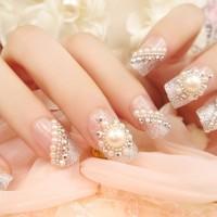 Jual Fake Nails Kuku Palsu Wedding Art Blink 3D Party Silver Murah