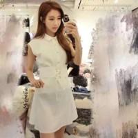 Jual Dress Tiara White - Gaun Putih Simple dan Elegant Murah