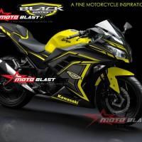 Ninja 250R fi - Black edition super carbon yellow