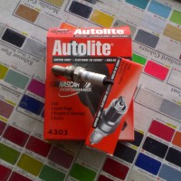 harga BUSI AUTOLITE 4303 - FU, Beat - USA - COPPER CORE - 100% ORIGINALE Tokopedia.com