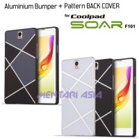 Aluminium Bumper Coolpad SOAR F101: Pattern Style BACK COVER