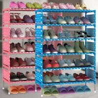 Rak Sepatu Portable 6 Susun / Rack Rak Sepatu Serbaguna / Rak Sendal