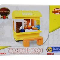 harga Lego Gerobak Warung Nasi Soto/ Lego Seri Indonesia Tokopedia.com
