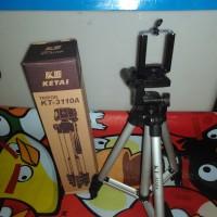 tripod 1 meter tripod hp/dslr/gopro/xiaomi/bpro free holder U 5inch