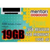 harga Kartu Perdana Internet Indosat Mentari Ooredoo 19GB (Bonus 10GB 4G) Tokopedia.com