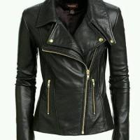 harga Jaket Kulit Wanita Keren Model Blazer GGS / Jacket cewek motor hitam Tokopedia.com