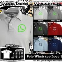 Kaos Ocean Seven Polo Whatsapp Logo 1 Diskon
