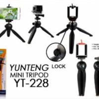 harga Mini Tripod YUNTENG YT-228 with phone holder for Digital Camera Tokopedia.com