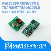 RF Wireless Receiver & Transmitter / Transceiver 433 / 315 MHz 5V