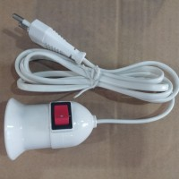 harga Fitting Gantung E27 Bola Lampu Kabel Gantung + Saklar Mitsui Tokopedia.com