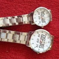 jam tangan stainless couple bisa tulis nama, tanggal, gambar, foto