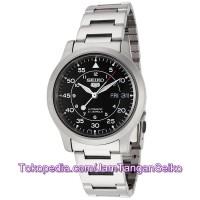 Jam Tangan Seiko 5 SNK809K1 Automatic Silver Black New