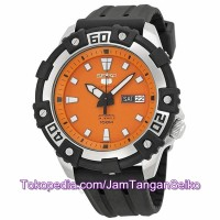 Jam Tangan Seiko 5 SRP473K1 Sports Black Silver Orange