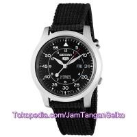 Jam Tangan Seiko 5 SNK809K2 Black Silver