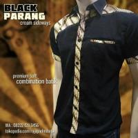 BATIK PRIA KOMBINASI | Black Parang Sideways | SERAGAM BATIK PRIA