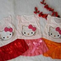 Baju Anak Perempuan Dres Bayi Gaun Pesta Baby hello kitty 1 2 tahun