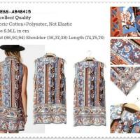 Harga dress batik etnik tank top long shirt blouse baju wanita korea   antitipu.com