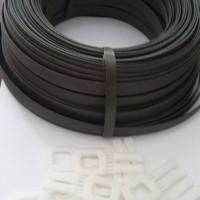 Strapping band/tali packing roll kecil + 15 pcs gesper plastik