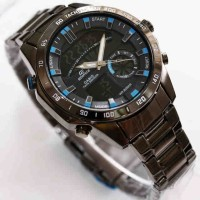 Casio Edifice ERA200 Dual time full black stainless steel