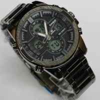 Casio edifice EF543 Dualtime Black stainless steel