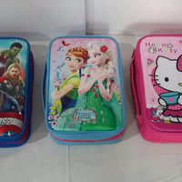 Bag /Tas Case Box /pencil organizer frozen/hello kitty/avengers DS30