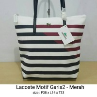 Tas / Totebag Lacoste Vertikal Motif ( tas wanita tas import )