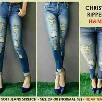 Soft Jeans Stretch H&M Christy Ripped