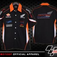 harga Kemeja MotoGP Honda Repsol Hitam/ pakaian pria /pakaian /baju /pen Tokopedia.com