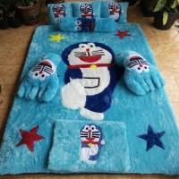 Karpet Bulu Rasfur Full Set Karakter Doraemon - Grosir Carpet Reznez