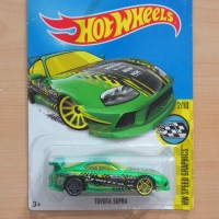 HOT WHEELS TOYOTA SUPRA GREEN HW SPEED GRAPHICS 2016 LOT D #177/250