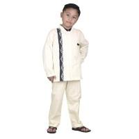 baju koko / muslim anak laki katun krem Catenzo Junior CDH 006 asli