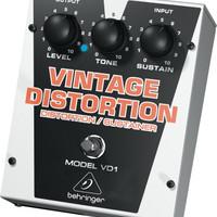 Behringer Vintage Distortion VD1 Distortion/Sustainer Effects Pedal