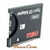 SDHC To Compact Flash CF Type II Card Reader Adapter - Black